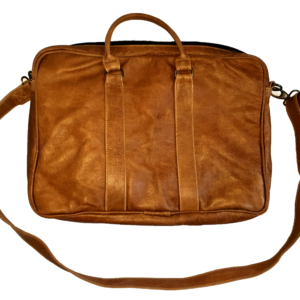 Leather office/laptop bag (Light brown)