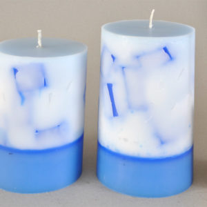 Two tone Blue/White Candles
