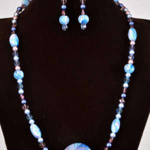 Shades of blue Necklace (N008)