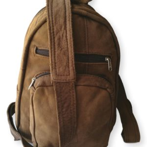 Soft Brown Leather Backpack