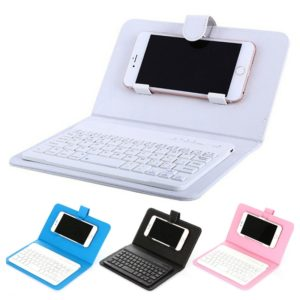 PU Cell Phone Cover Wireless Keyboard